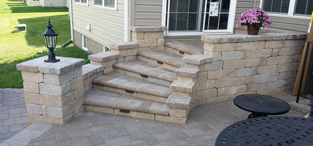 md home with pavers